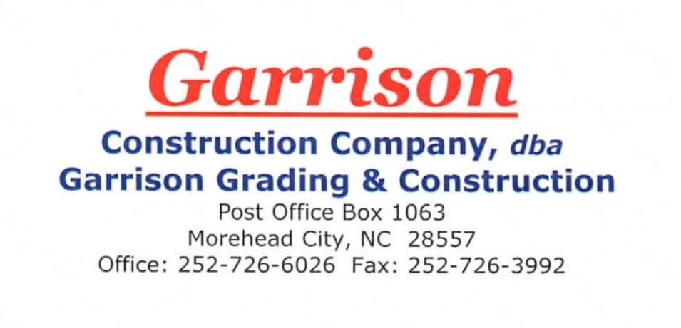 Sponsor Garrison Construction Company