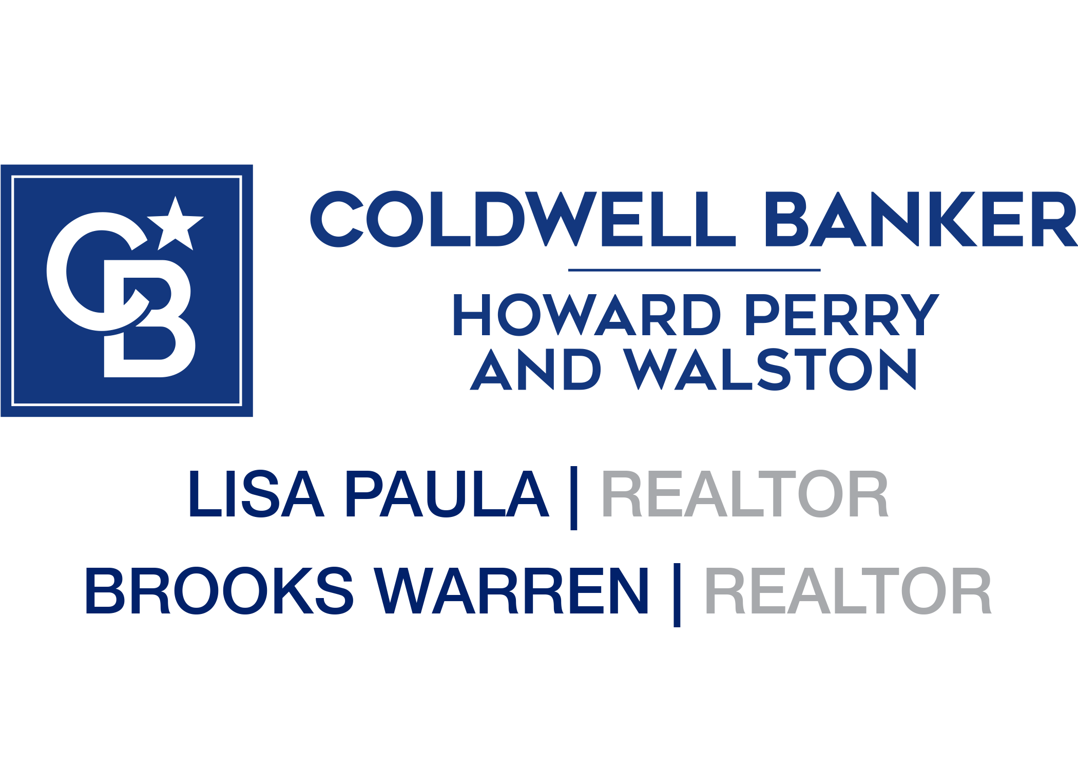 Sponsor Coldwell Banker - Lisa Paula/Brooks Warren